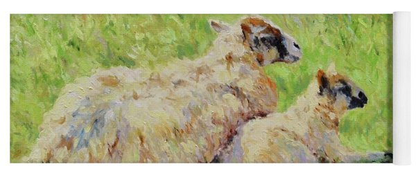 Sheep In The Spring Time,la Vie Est Belle Yoga Mat