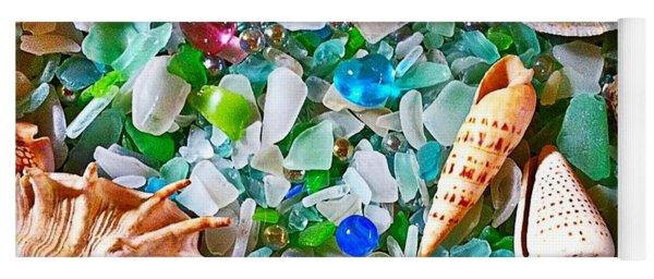 Shells And Glass Yoga Mat