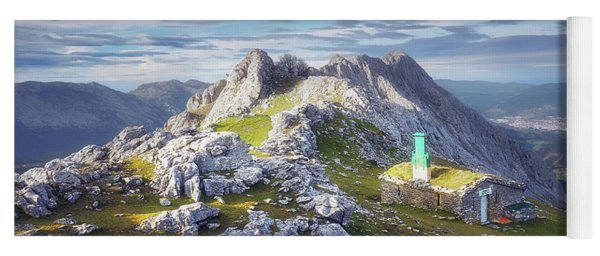 Shelter In The Top Of Urkiola Mountains Yoga Mat