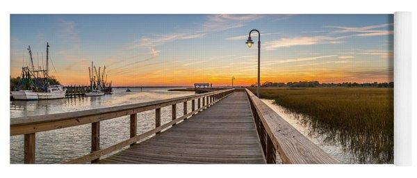Shem Creek Pier Panoramic Yoga Mat