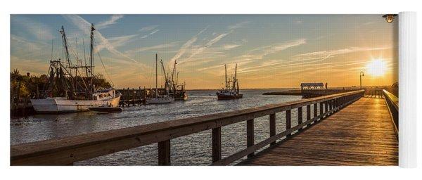 Shem Creek Pier Sunset - Mt. Pleasant Sc Yoga Mat