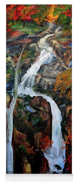 Shenandoah Waterfall Yoga Mat