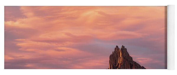 Shiprock At Sunset Yoga Mat