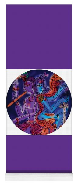 Shiva And Krishna Yoga Mat