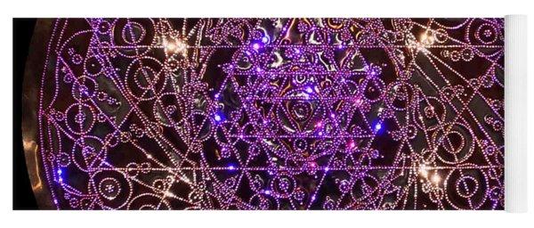 Yoga Mat featuring the sculpture Shiva Shakti Coipper Lightmandala by Robert Thalmeier