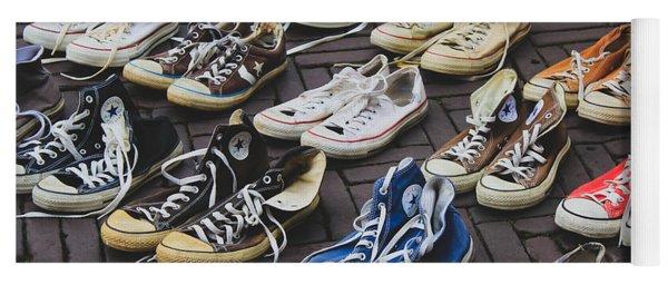 Shoes At A Flea Market Yoga Mat