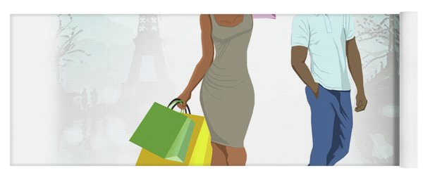 Shopping With Style In Paris Yoga Mat