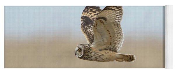 Short-eared Owl Hunting Yoga Mat
