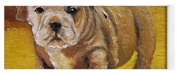 Chloe The   Flying Lamb Productions      Shortstop The English Bulldog Pup Yoga Mat