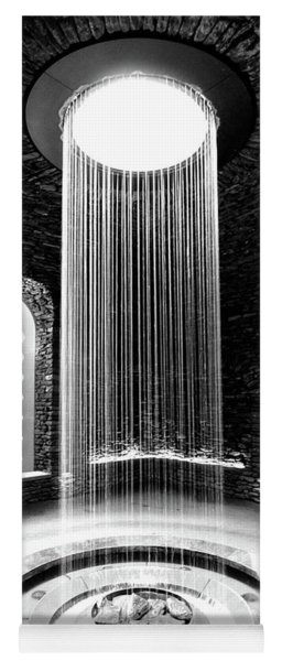 Shower Inside The Grotto Black And White Yoga Mat