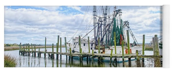 Shrimp Boats Of St. Helena Island Yoga Mat