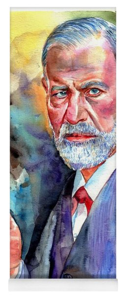 Sigmund Freud Painting Yoga Mat