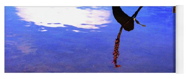 Yoga Mat featuring the photograph Silhouette Aquatic Fish by Rockin Docks Deluxephotos