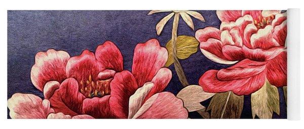 Silk Peonies - Kimono Series Yoga Mat