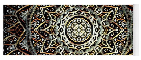 Silver And Gold Mandala Yoga Mat