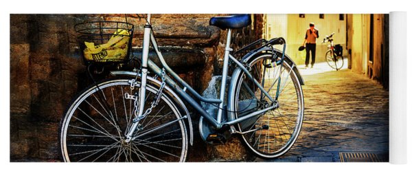 Silver Bicycle Of Florence Yoga Mat