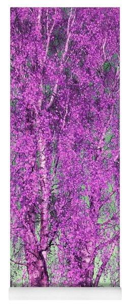 Silver Birch In Lilac Yoga Mat