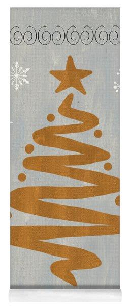 Silver Gold Tree Yoga Mat