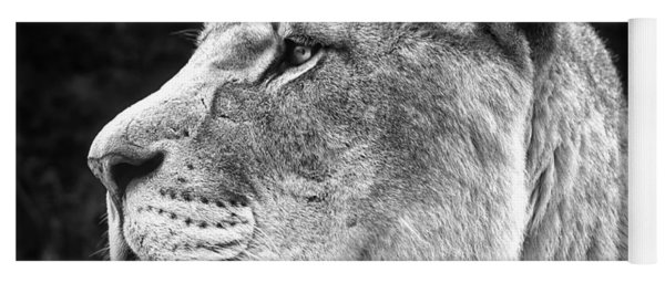 Silver Lioness  Yoga Mat
