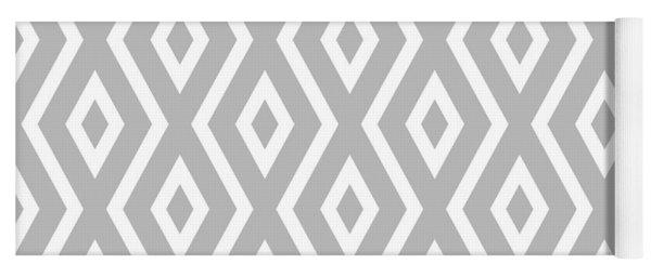 Silver Pattern Yoga Mat