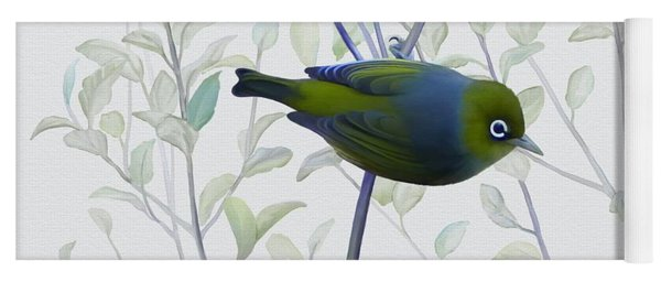 Yoga Mat featuring the painting Silvereye by Ivana Westin