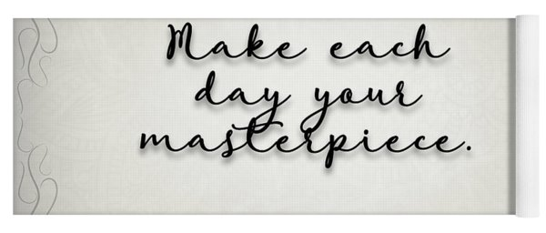 Simple Quote Series Wooden Yoga Mat