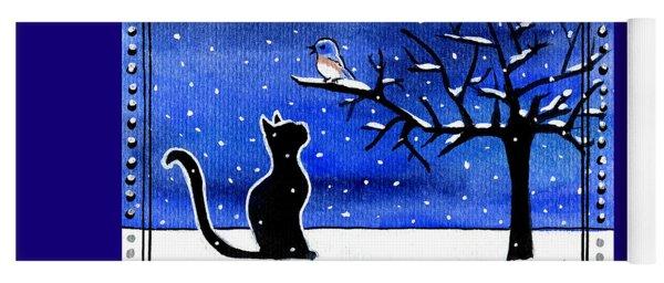 Sing For Me - Black Cat Card Yoga Mat