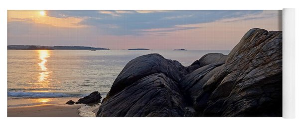 Singing Beach Rocky Sunrise Manchester By The Sea Ma Yoga Mat