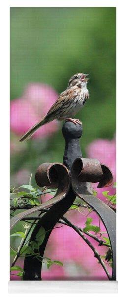 Singing Song Sparrow Yoga Mat
