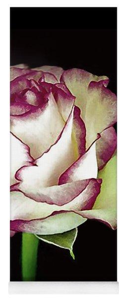 Single Beautiful Rose Yoga Mat