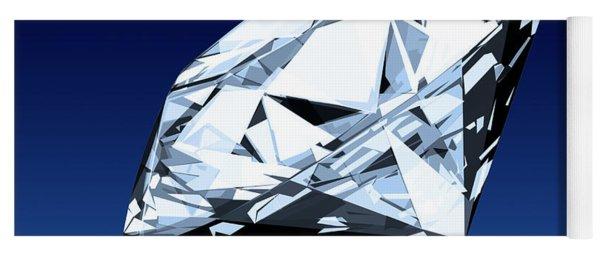 Single Blue Diamond Yoga Mat