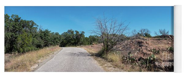 Single Lane Road In The Hill Country Yoga Mat