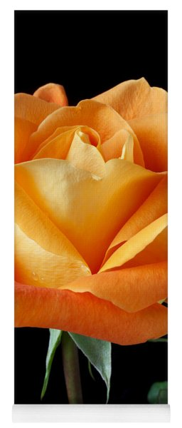 Single Orange Rose Yoga Mat