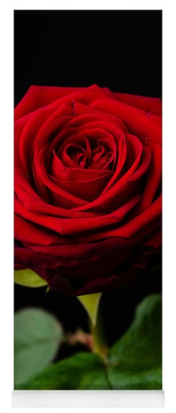 Single Rose Yoga Mat