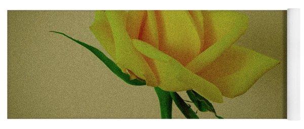 Single Yellow Rose Yoga Mat