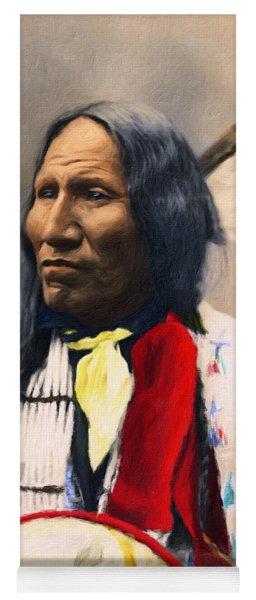 Sioux Chief Portrait Yoga Mat