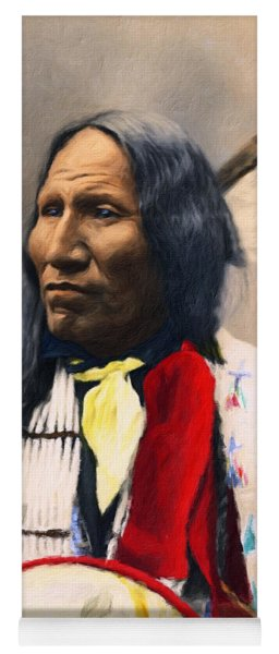 Sioux Chief Portrait Yoga Mat