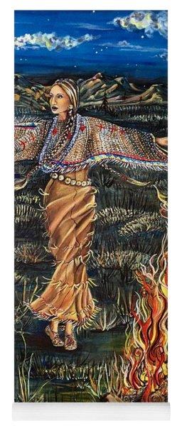 Sioux Woman Dancing Yoga Mat