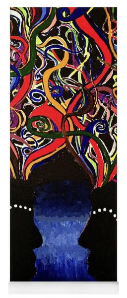 Sis The Twins - Abstract Silhouette Painting - Sisterhood - Abstract Painting  Yoga Mat