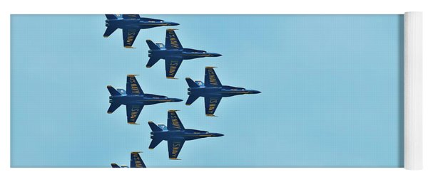 Six Blue Angels In The Clear Blue Sky Yoga Mat