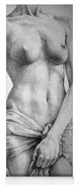 Sketchbook Page 35 The Female Pencil Drawing Yoga Mat