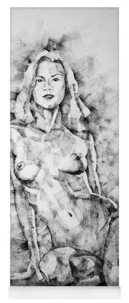 Sketchbook Page 36 Female Sitting Pose Drawing Yoga Mat