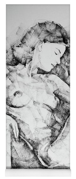 Sketchbook Page 42 Drawing Girl Sitting Pose Yoga Mat