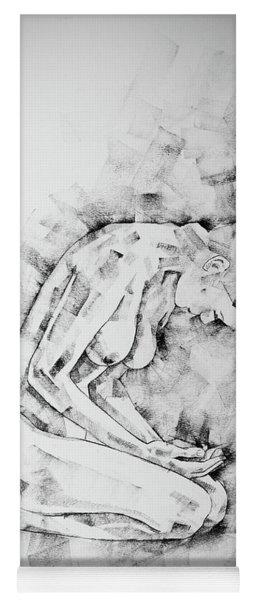 Sketchbook Page 49 Kneeling Pose Drawing Yoga Mat