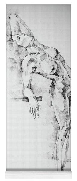 Sketchbook Page 52 Girl Art Drawing Classical Pose Yoga Mat
