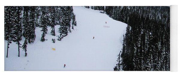 Skier Row Yoga Mat