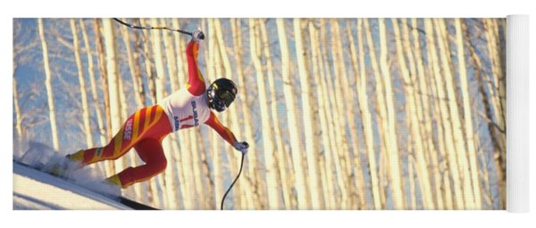 Yoga Mat featuring the photograph Skiing In Aspen, Colorado by Travel Pics