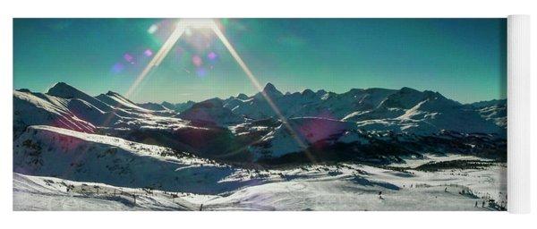 Skiing Sunshine Yoga Mat