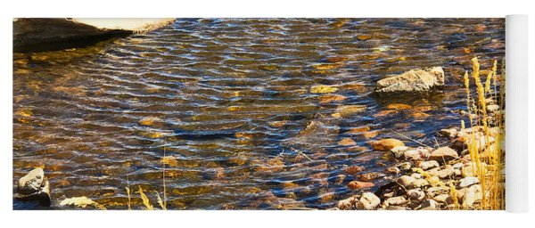 Yoga Mat featuring the photograph Skipping Stone by Gina Bonelli
