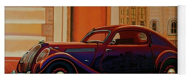 Skoda Popular Sport Monte Carlo 1935 Painting Yoga Mat